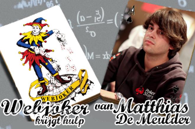 Webjoker krijgt hulp van Matthias De Meulder: gebluft door een donk