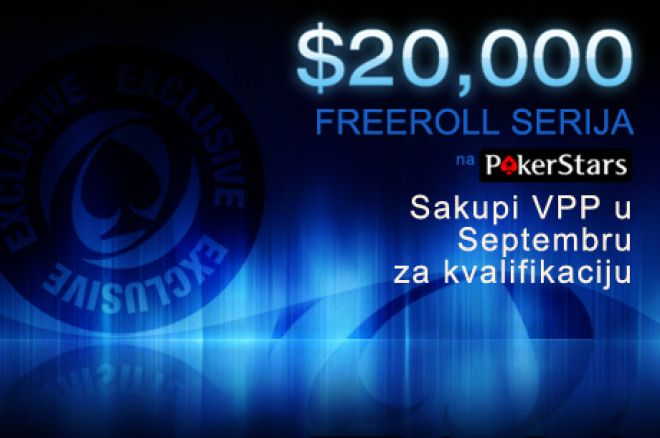 $20,000 Ekskluzivni PokerStars Freeroll Turniri u Septembru 0001