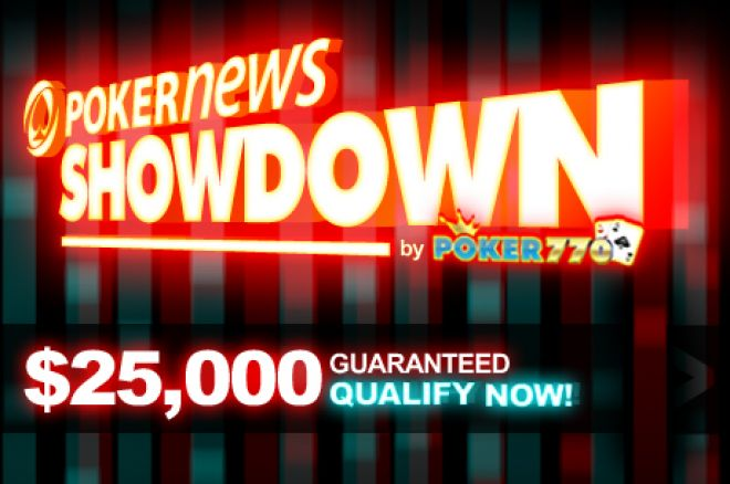 Overlay Zagarantovan na $25,000 PokerNews Showdown Turniru 0001