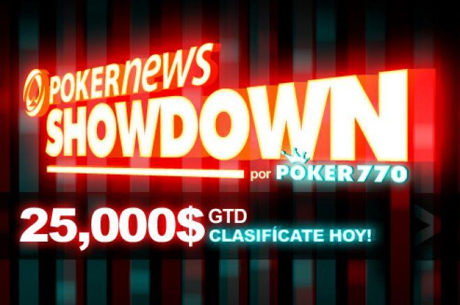Overlay seguro en el PokerNews Showdown con 25.000$ en juego 0001