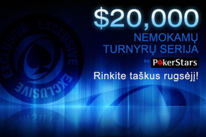 Tik PokerNews žaidėjams - $20,000 nemokamų turnyrų serija PokerStars! 0001