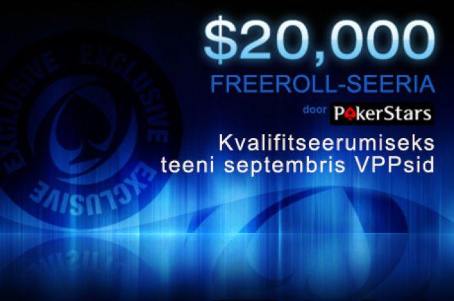 20k freerolliseeria pokerstarsis