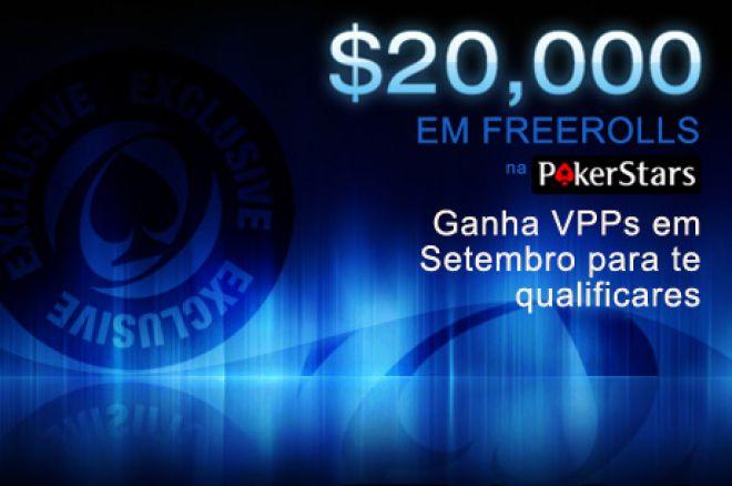 Setembro traz $20.000 em freerolls exclusivos na PokerStars 0001