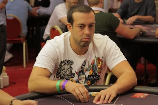 Miguel Tavares no Dia 2 do Evento #1 das WSOPE 0001