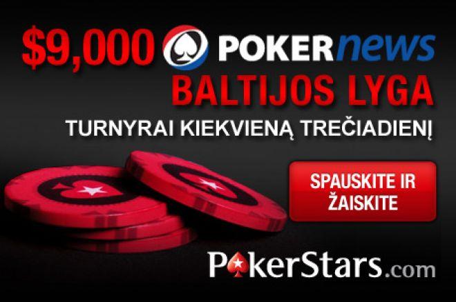 Jau šįvakar pirmasis PokerStars $9,000 Baltijos lygos turnyras 0001