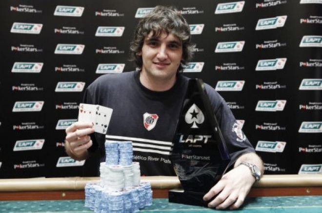 2011 PokerStars.net LAPT Colombia Day 3: Джулиан Менендес празднует... 0001