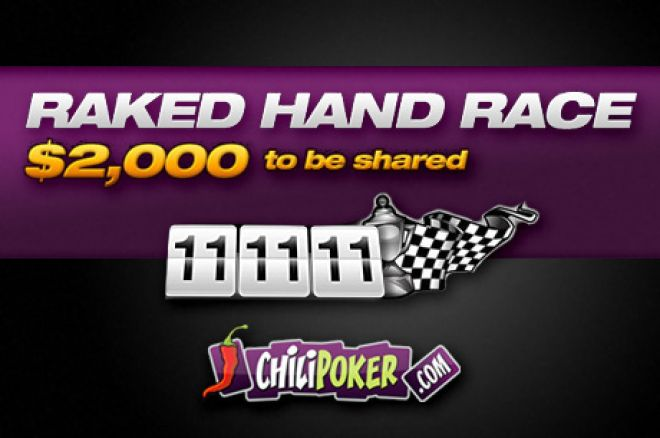 Huge Value on Offer in Chilipoker's Exclusive Rake Race 0001