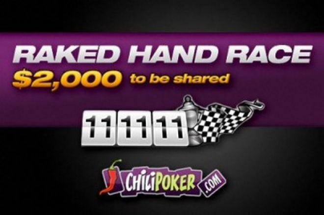 Великі призи в акції від Chilipoker Raked Hand Race 0001