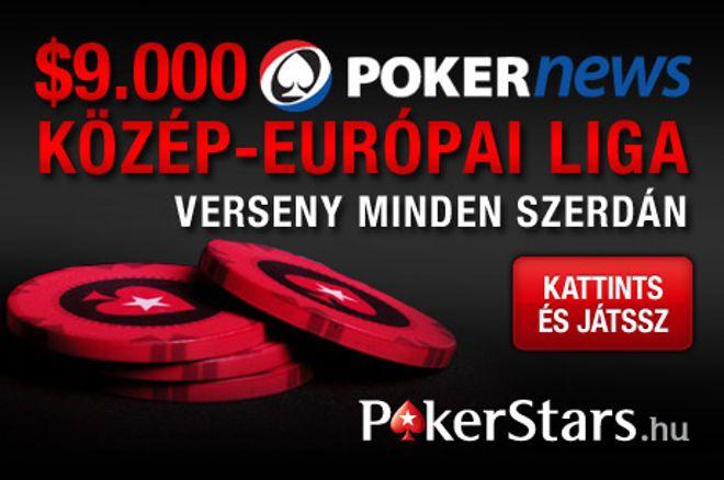 Bárki indulhat a szerdai $9.000 PokerNews közép-európai ligában a PokerStarson 0001