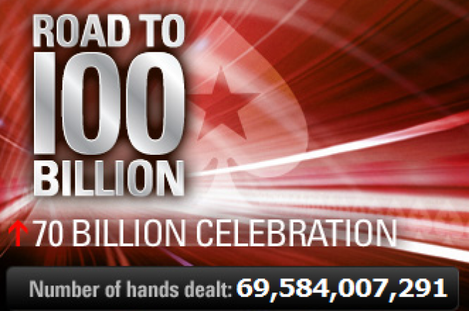 Huge prizes in store for PokerStars' 70 Billionth hand 0001