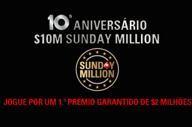 Sunday Million com $10.000.000 garantidos no prize pool 0001