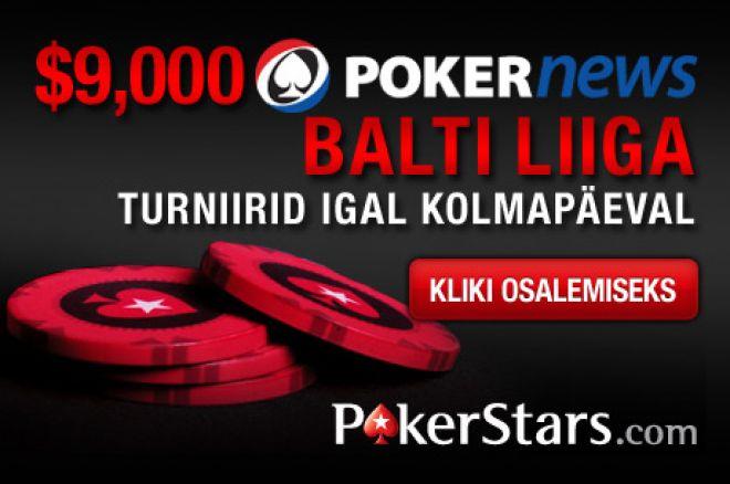 PokerStars Balti Liiga järgmine turniir on juba täna 0001