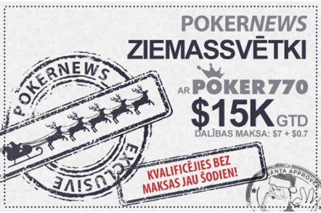Piedāvājam laimēt daļu no $15,000 šajos Ziemassvētkos iekš Poker770 0001