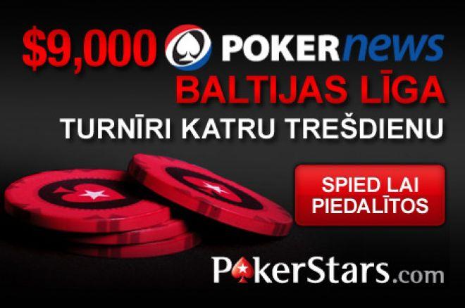 Šodien startē astotais Baltijas līgas posms PokerStars istabā. 0001