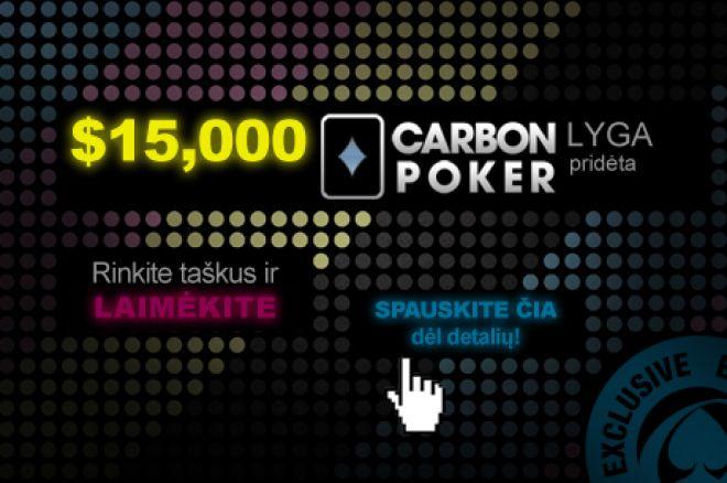 Šįvakar $15K Carbon lygos 2 VIP nemokamas turnyras vėl pakeis lyderius 0001