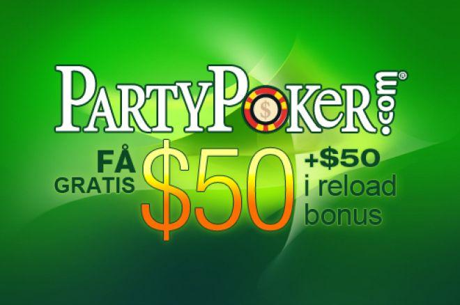 Få $50 + $50 gratis hos PartyPoker genom PokerNews