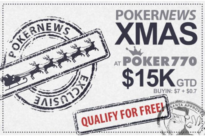 Win Big this Holiday Season in the $15,000 Xmas Tournament on Poker770 0001