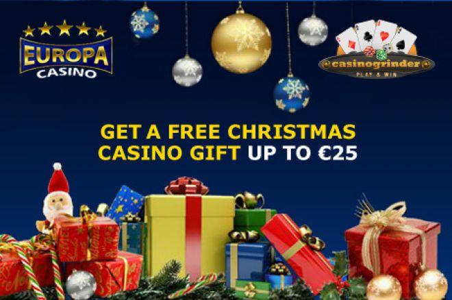 Vánoční dárek €25 zdarma od Europa Casina 0001