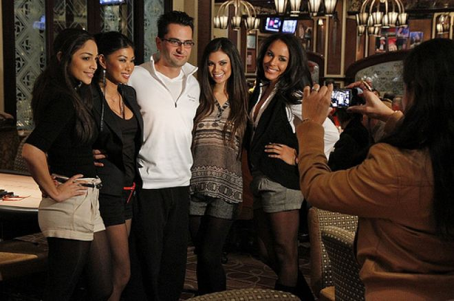 Esfandiari w/ the Royal Flush Girls
