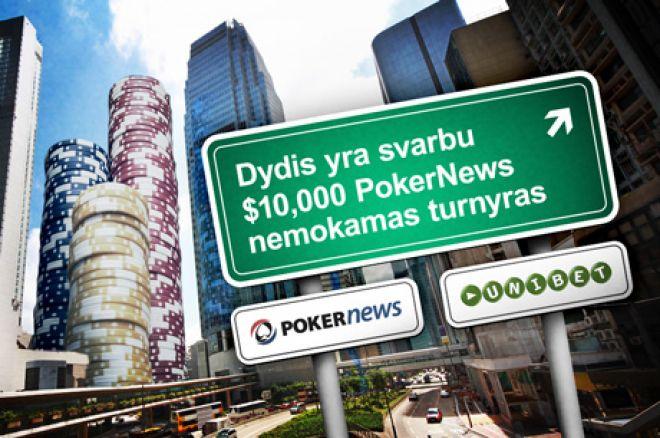 """Laimėkite daug $10,000 """"Dydis yra svarbu"""" akcijoje Unibet Poker kambaryje 0001"""
