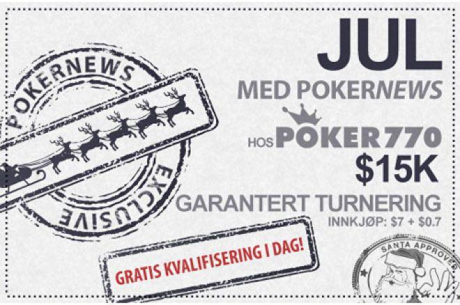 Gå ikke glipp av $15 000 turneringen hos Poker770 i kveld 0001