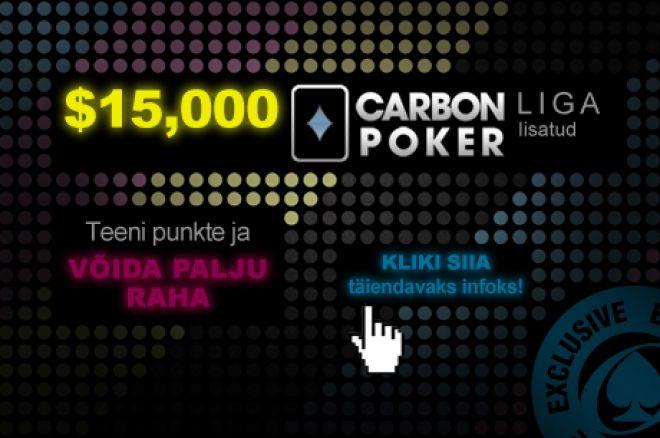 Tegevus $15K Carbon pokkeriliigas kütab kirgi 0001