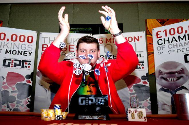 Luke Fields winning the GUKPT Champion of Champions