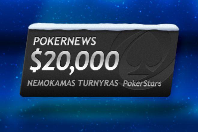 Didžiulis $20,000 prizinis fondas laukia PokerNews PokerStars nemokamame turnyre 0001