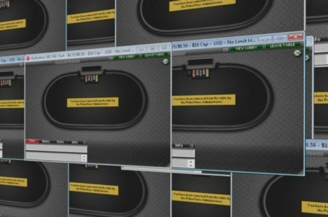 """扑克之星锁定""""Sit-Out""""抗议者账户 0001"""