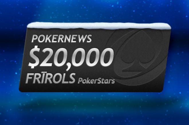 Iegūsti daļu no $20,000 PokerNews PokerStars frīrolā 0001