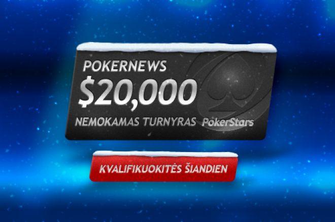 Dalyvaukite $20,000 garantuoto prizinio fondo PokerNews ir PokerStars nemokamame turnyre! 0001