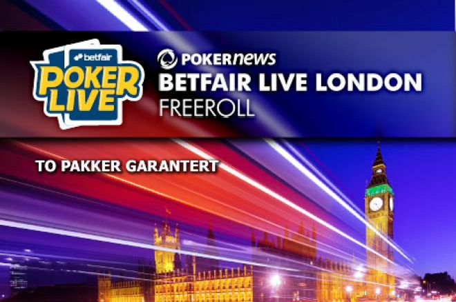 Vinn en av to $1 400 pakker til Betfair Poker LIVE London 0001