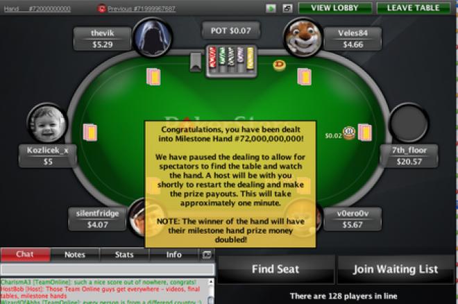 pokerstars billion hand