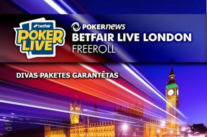 Pēdējā nedēļa, lai kvalificētos Betfair Poker LIVE Londonā 0001