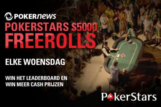 Win veel geld in de prachtige $67.500 PokerStars PokerNews Freeroll Series!