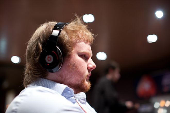 Brammer in action at the UKIPT Manchester Main Event (Photo: Neil Stoddart / PokerStars Blog)