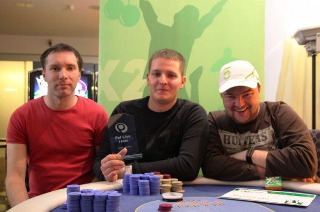 Esikolmik vasakult paremale Kaarel Võhandu, Eerik K. ja Vadim Guk