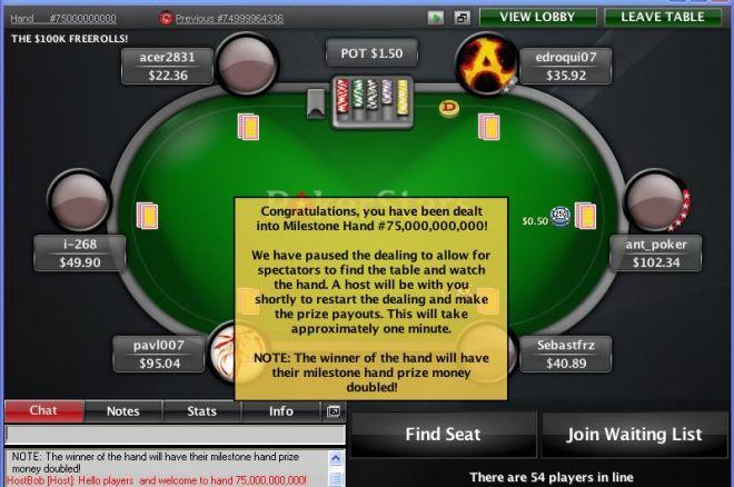 扑克之星750亿里程碑活动发放奖金$140,000 0001