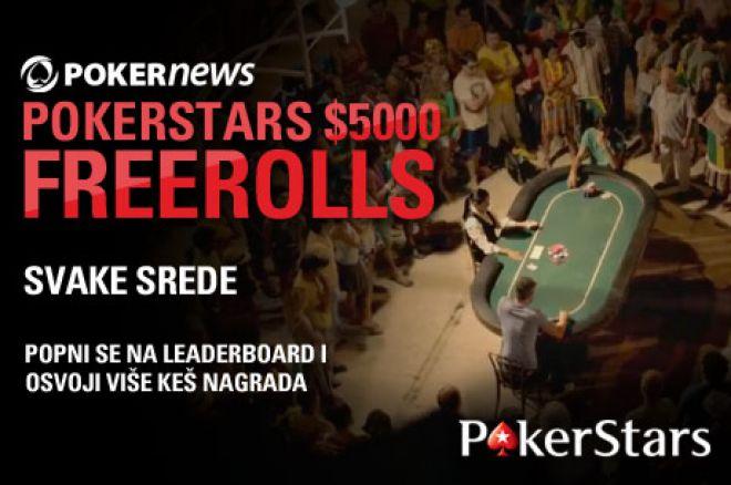 Kvalifikujte se za $5,000 Nedeljni Freeroll na PokerStarsu! 0001