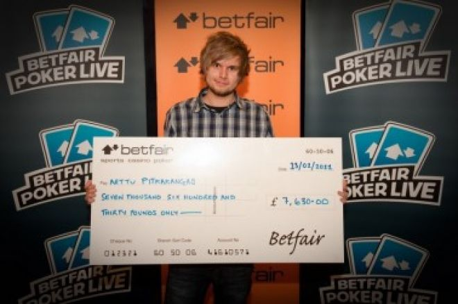 Last year's Betfair Poker LIVE London winner Arttu Pitkakangas
