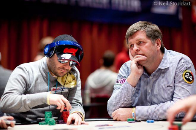 Roberto Romanello and Jan Molby (Photo: Neil Stoddart / PokerStars)