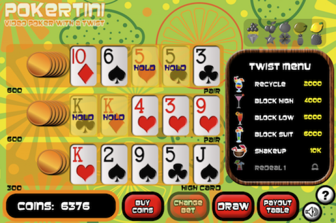 Pokertini: Video Poker With A Twist