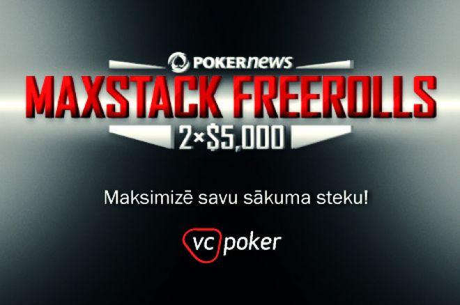 Pēdējā diena, lai kvalificētos otrajam $5,000 MaxStack Freeroll Victor Chandler istabā 0001
