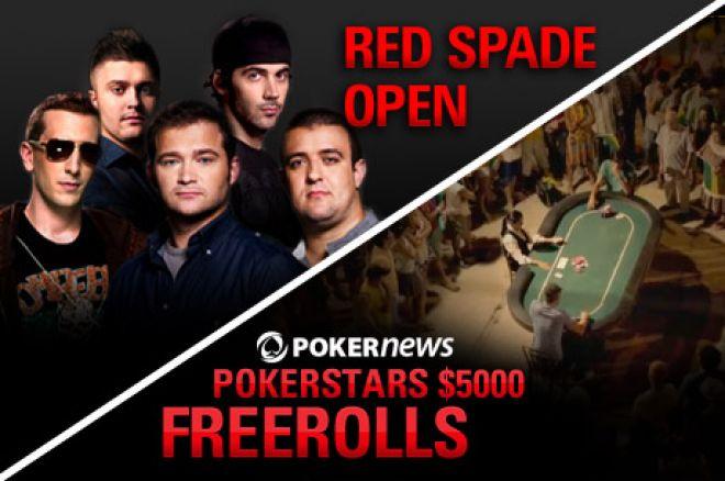 Spēlē PokerStars Red Spade Open turnīrā un kvalificējies $5K frīrolam 0001