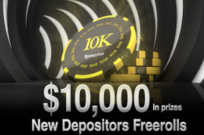 Виграй свою частину від $ 10,000 в Depositors Freerolls на Titan Poker 0001