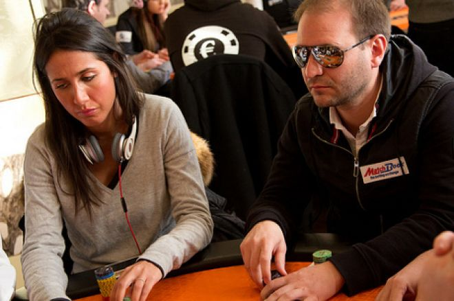 Roberto Romanello and Nesrine Kourdourli (Photo: World Poker Tour / Francesco Rizzo)