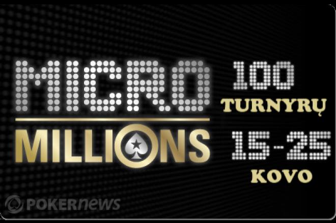"""""""MicroMillions"""" serija – $5,000,000 garantinis prizinis fondas ir 100 turnyrų... 0001"""