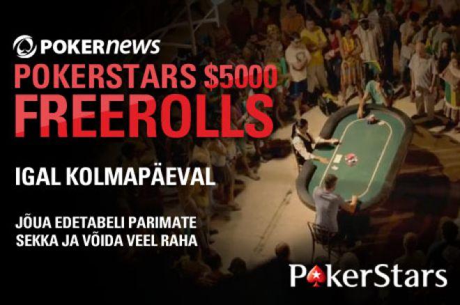 Mängi PokerStarsis PokerNewsi iganädalasel $5000 freerollil 0001