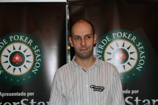 Tomé Moreira é o chipleader do Dia 2 do PokerStars Solverde Poker Season 0001