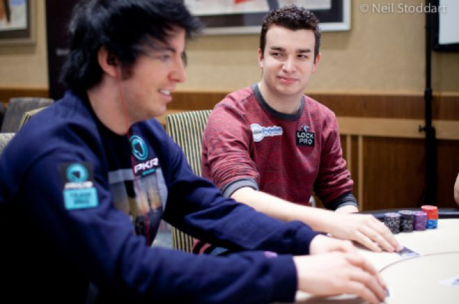 Chris Moorman and Jake Cody in action in the EPT Madrid Main Event (Photo: Neil Stoddart)